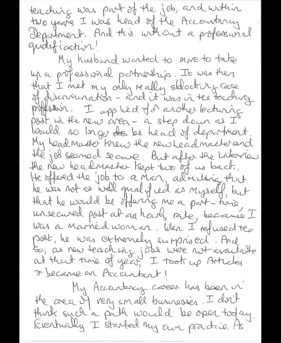 Judith Mary Craig letter