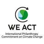 'We Act - International Philanthropy Commitment on Climate Change' logo
