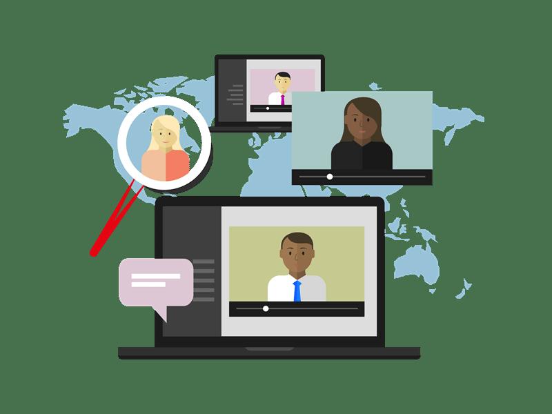 Virtual conference illustration