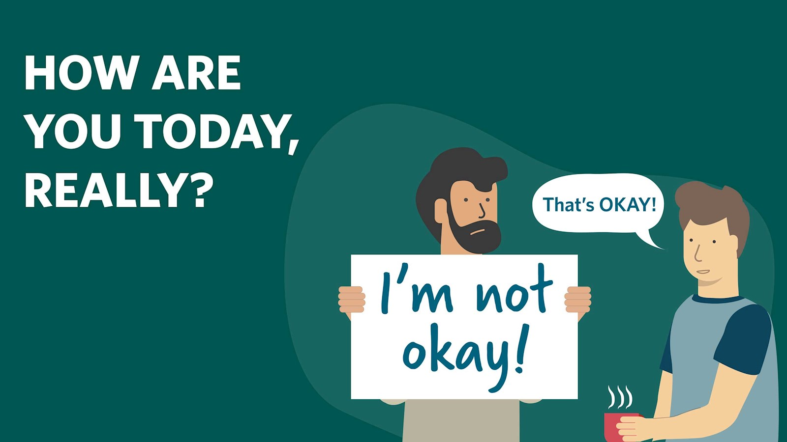 Image stating it's okay not to be okay