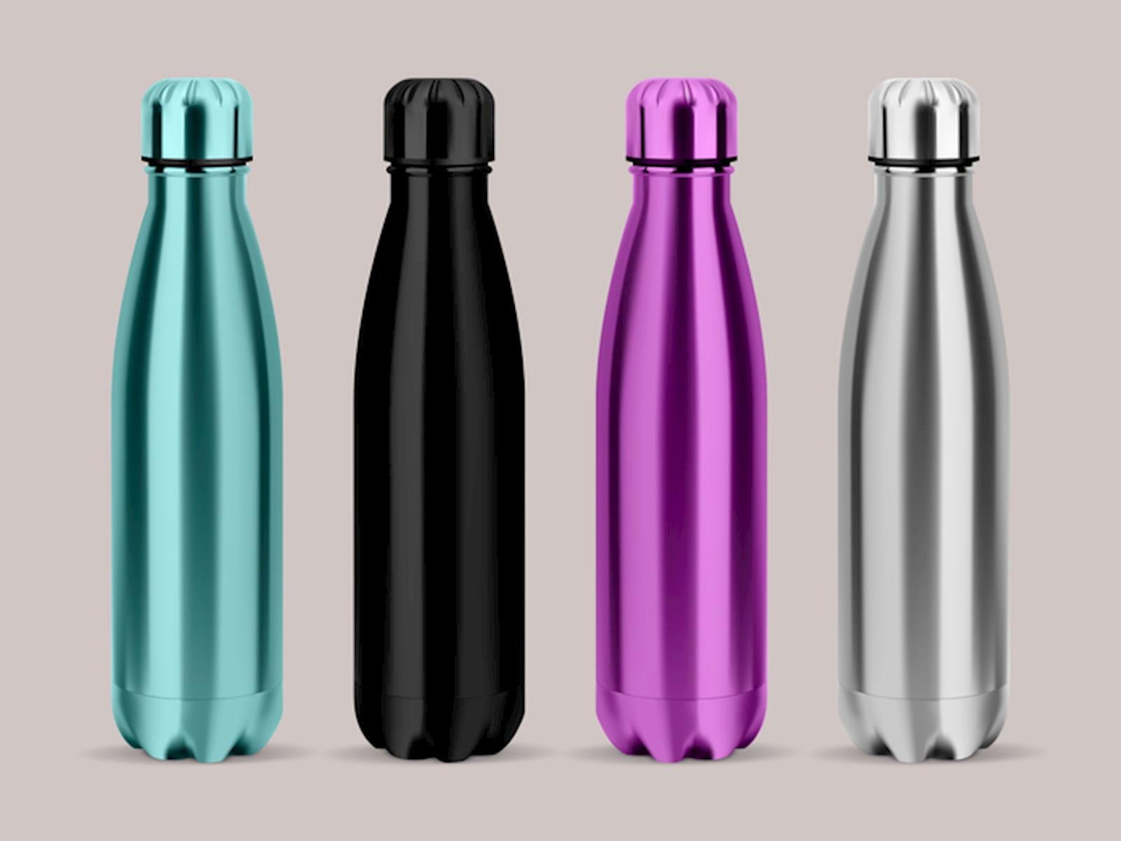 Shiny water bottles