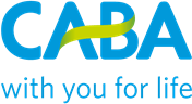 The CABA logo and slogan 'with you for life'