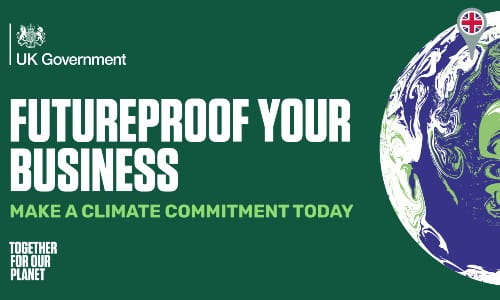 Together for our planet logo - UK Government initiative