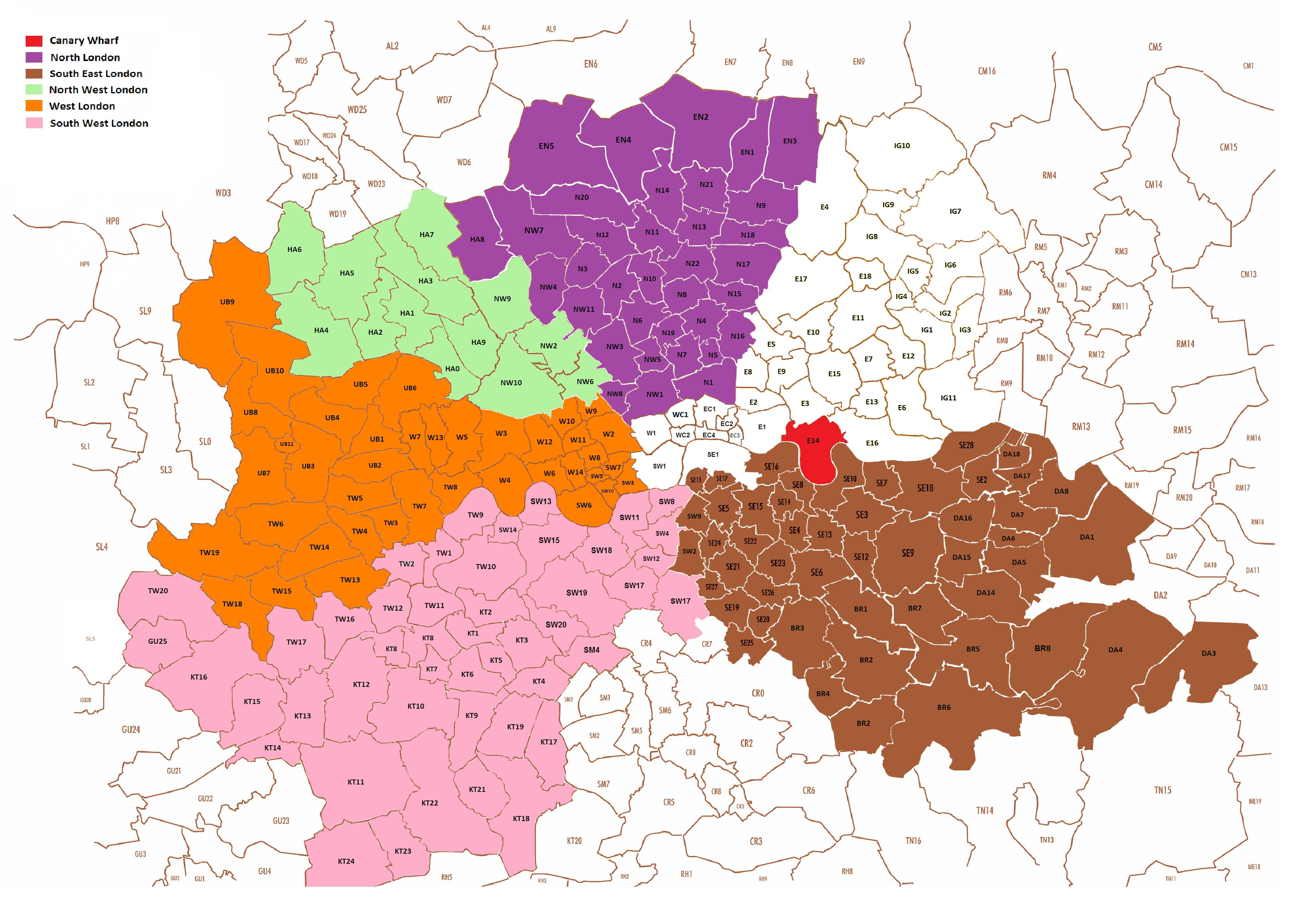 Map North West London.Lsca Area Societies Icaew