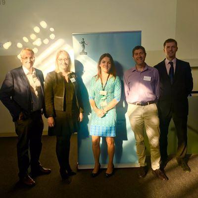 L-R: Clive Bawden, Kirsty McEwan, Henriette Lyttle-Breukelaar, Gerard Fisher, Craig Edmondson.