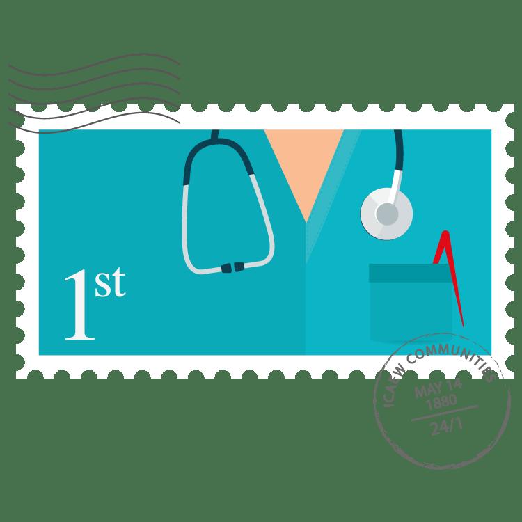 Healthcare Community stamp