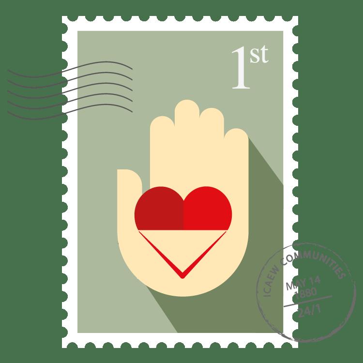 Volunteering Community stamp