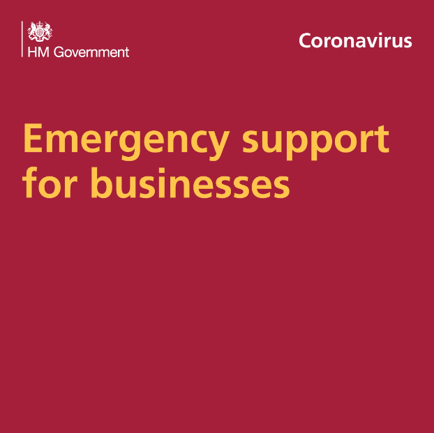 Government logo and the words 'Coronavirus' and 'Emergency support for businesses'