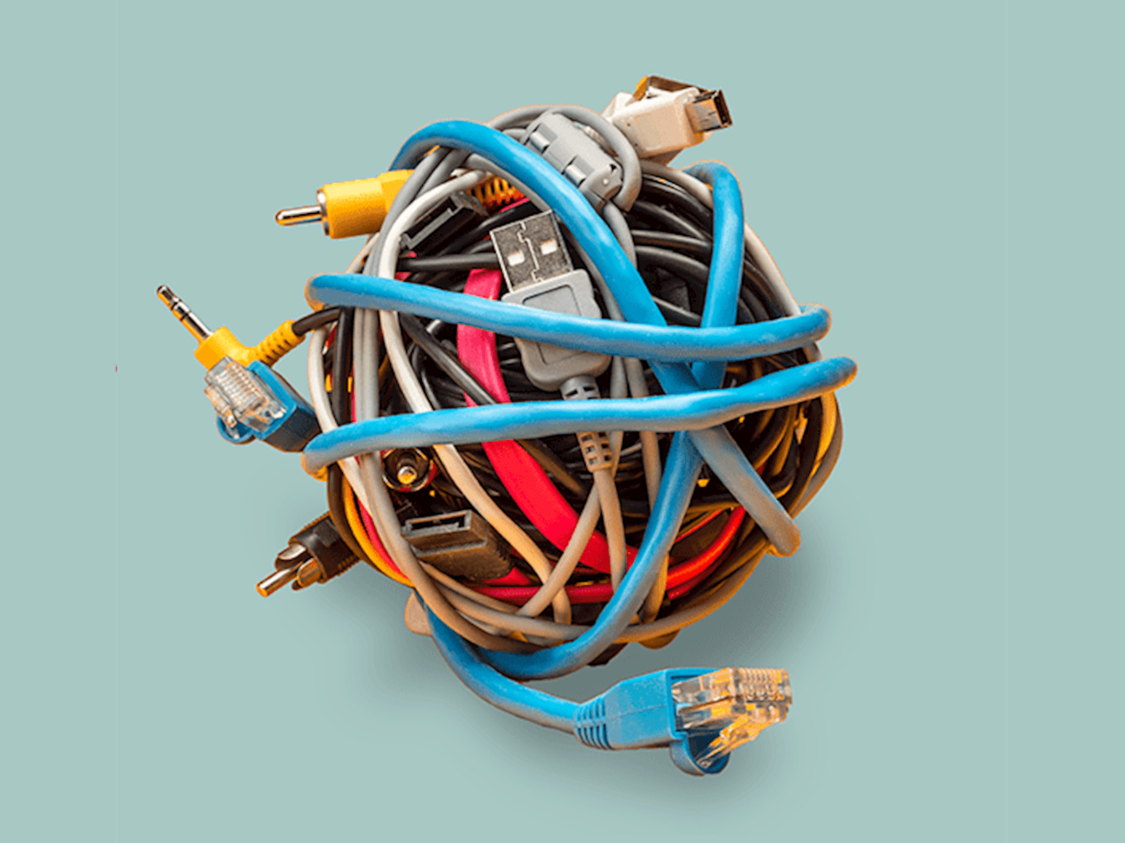 A ball of cables
