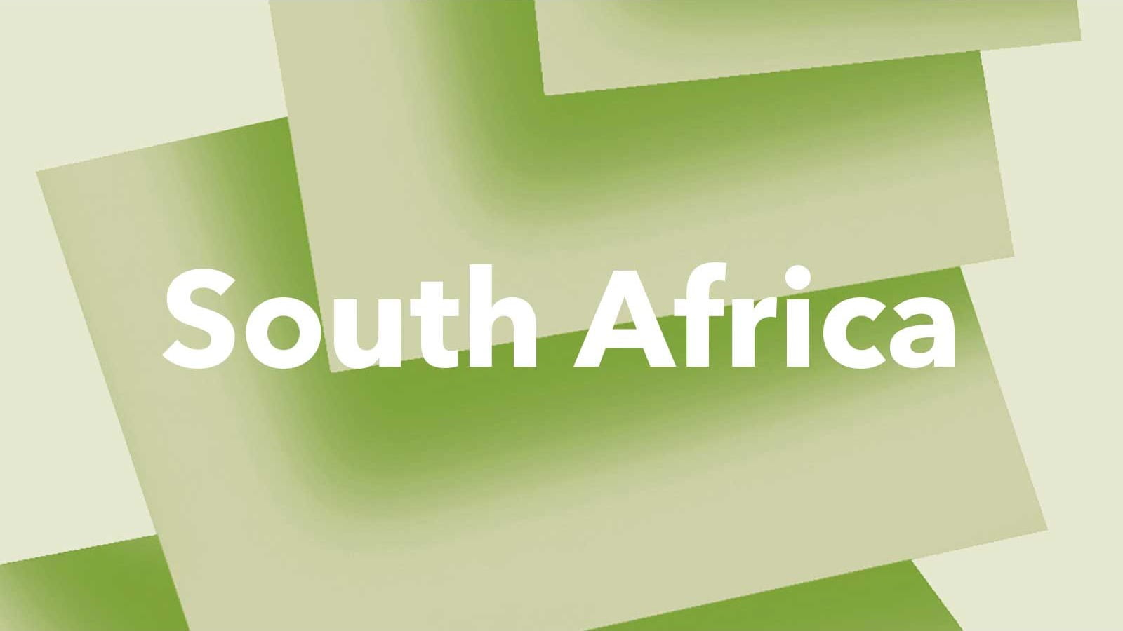 The words 'South Africa' on a green background