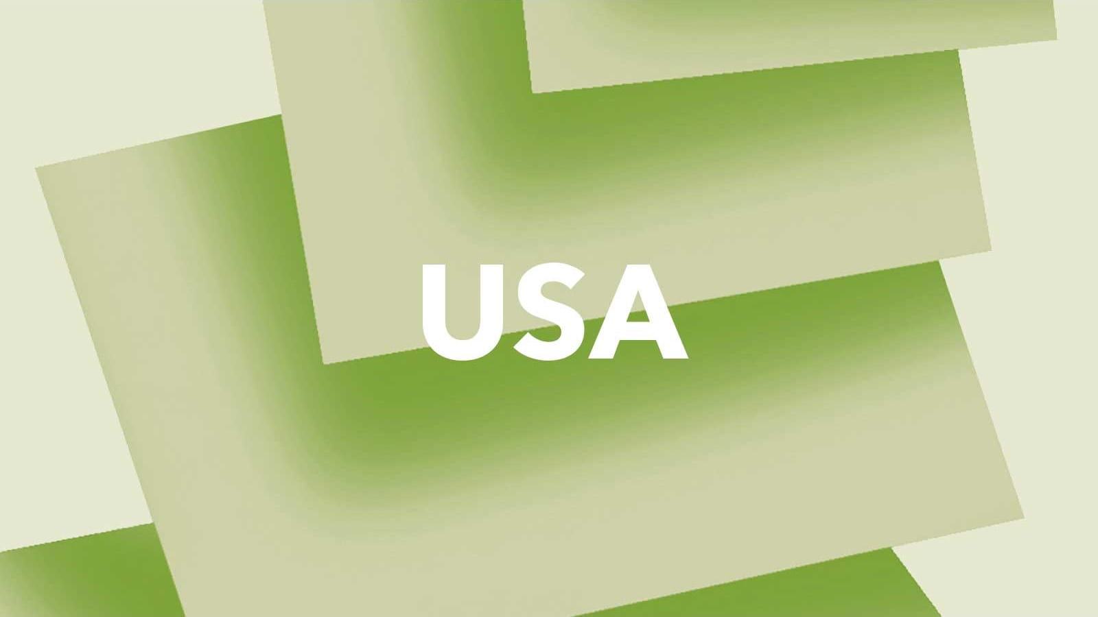 The letters 'USA' on a green background