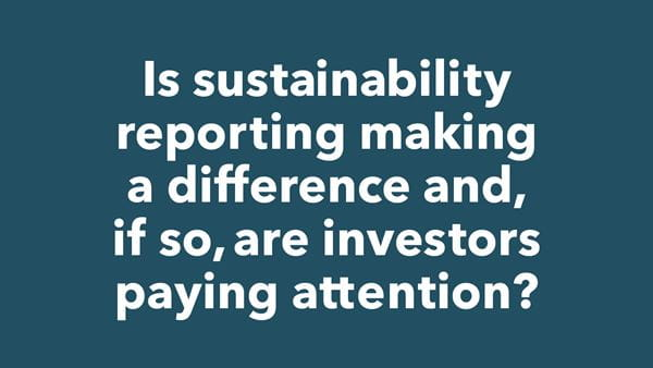 Graphic on sustainability reporting