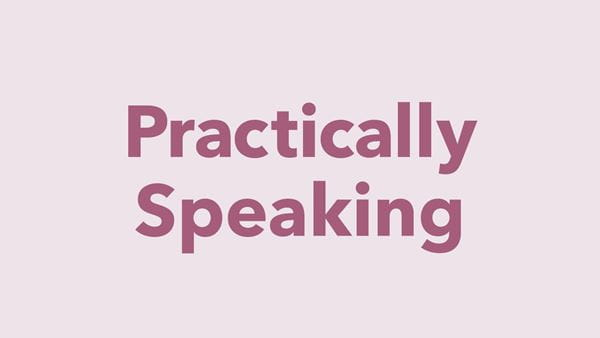 Graphic illustrating Practically Speaking articles