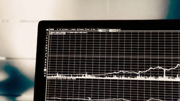Graph on a computer screen