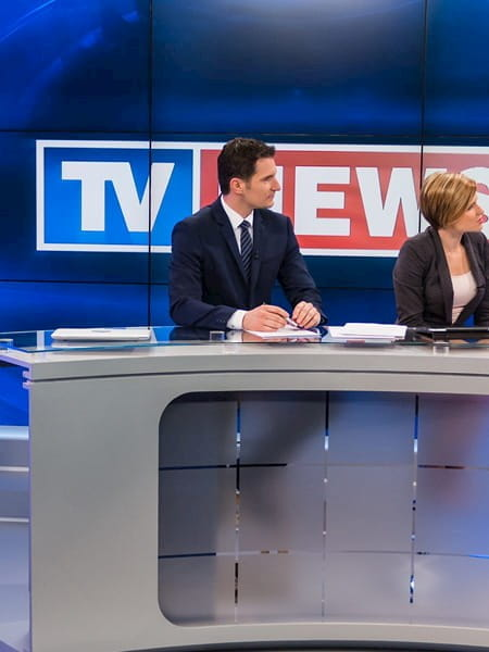A still frame of a Sky News broadcast