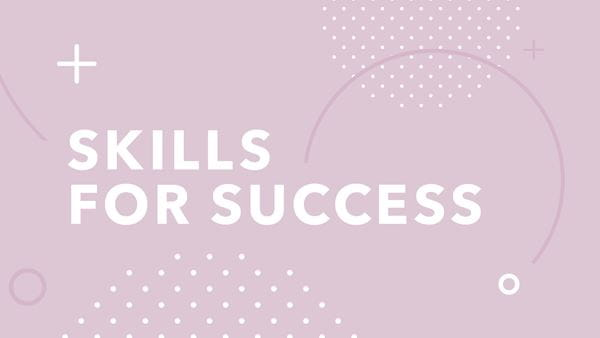 Graphic supporting Skills for success series
