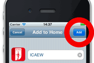 Adding a shortcut to your iPhone home screen tap by tap guide step 3 - Change the shortcut name
