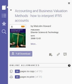 printing allowances Ebook Central pages