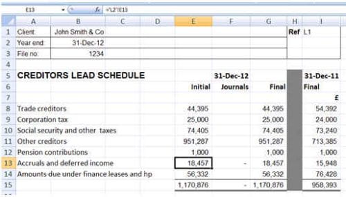 Using an excel file as working papers part 2 practicewire using excel 2 2 publicscrutiny Images