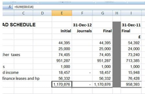 Using an excel file as working papers part 2 practicewire using excel 2 3 publicscrutiny Images