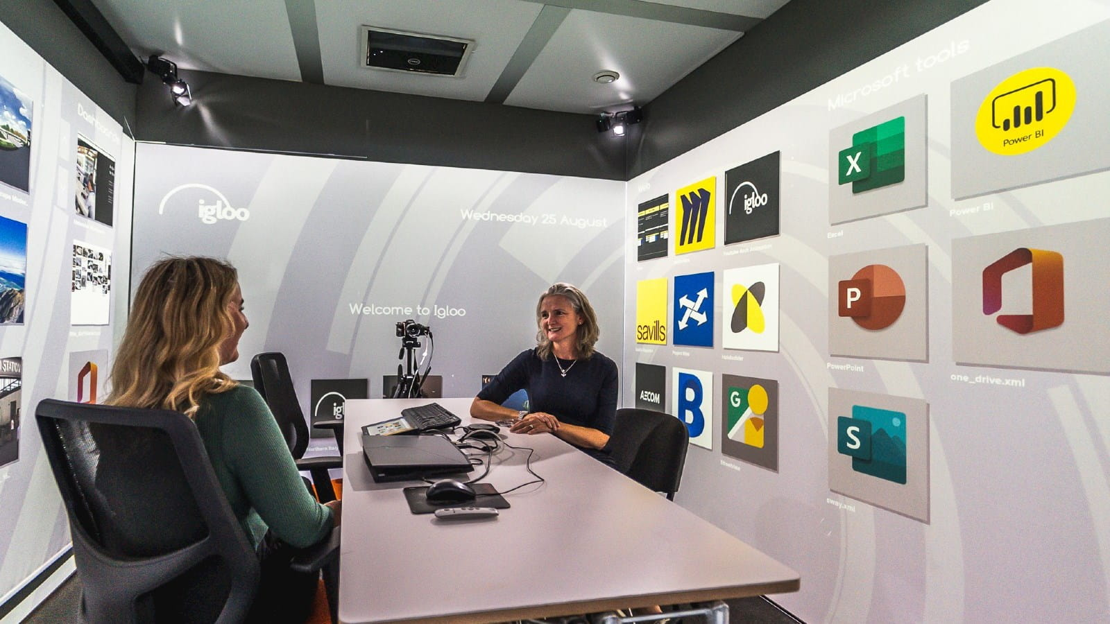 Igloo Vision's immersive virtual learning space provides 360° projection and the ability to simulate training.