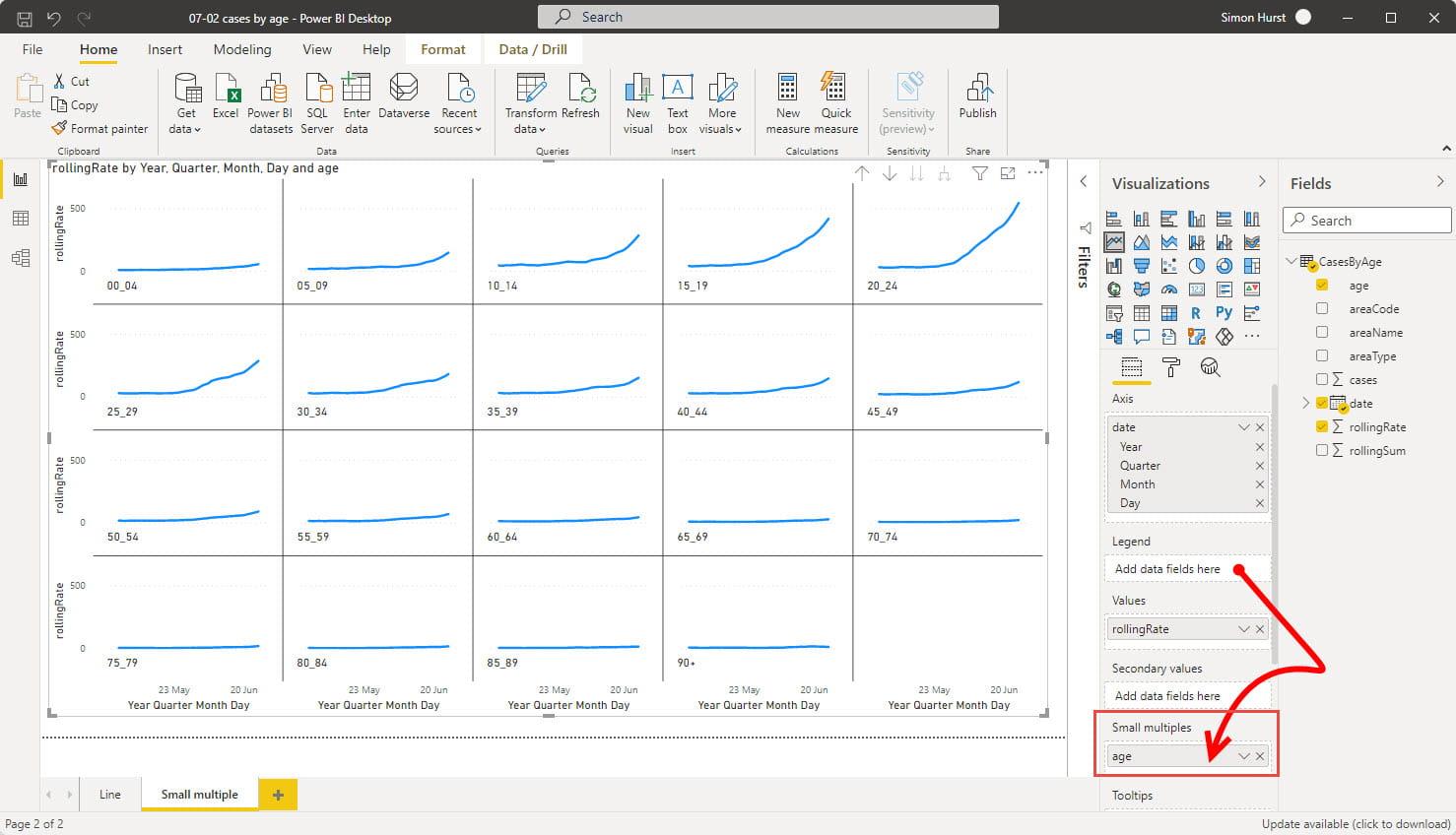 screenshot from Power Bi
