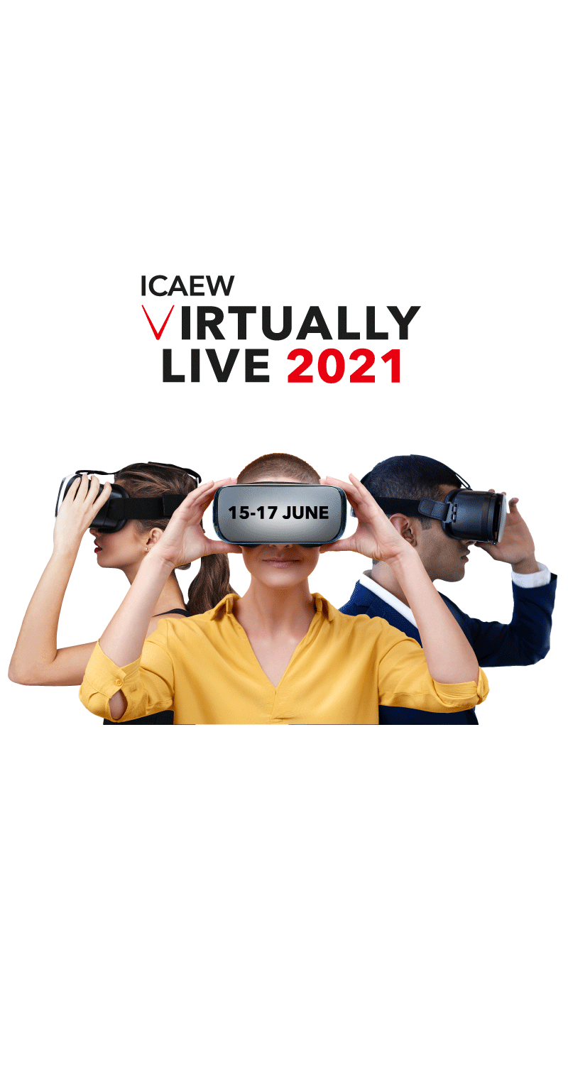 ICAEW's flagship digital conference returns for 2021. Virtually Live will be held on 15-17 June 2021