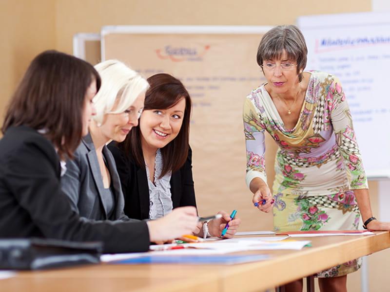 Senior businesswomen
