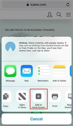 Iphone screen shot step 2