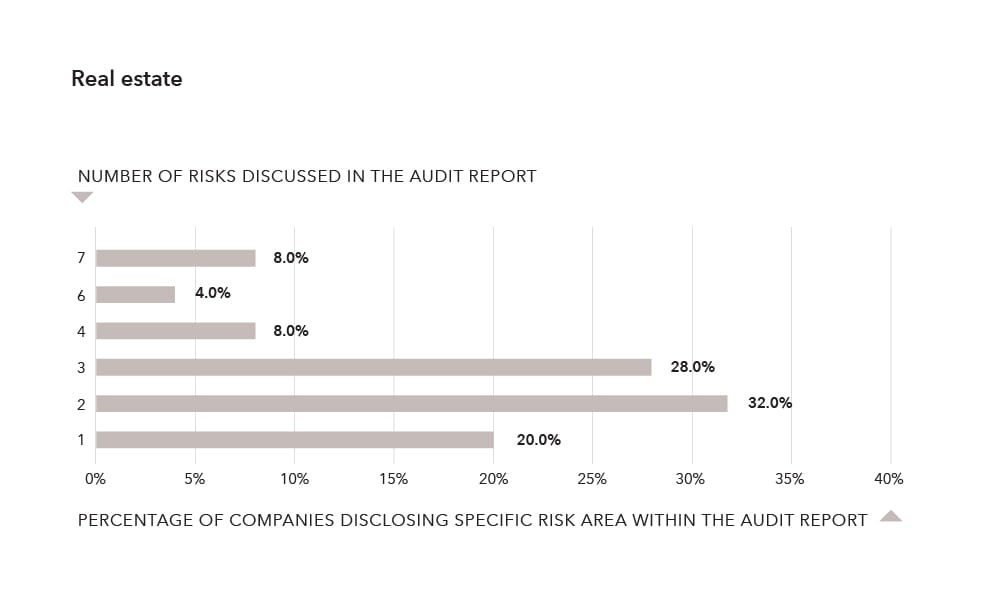 Number of risks discussed in the audit report